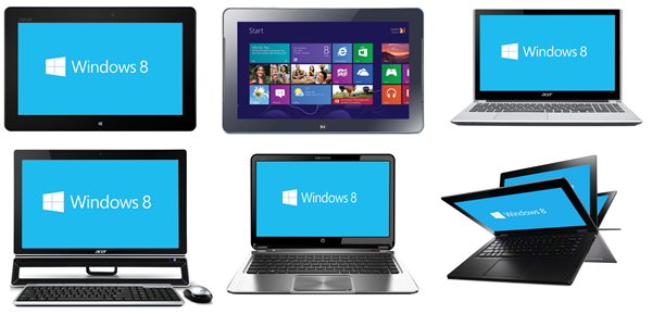 Windows 8 choices